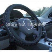 Wholesale The new steering wheel cover ice silk PU leather steering wheel cover to cover slip universal car