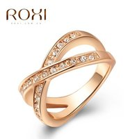 Wholesale ROXI Christmas gift to girl X rings top quality make with genuine SWR crystal hand made fashion jewelry new style