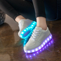 Wholesale British Olympic delegations and disco fashion shoes shine shoes high quality LED lights USB charging colorful shoes