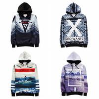 Wholesale Men s D Digital Print Pullover Hoodie Hooded Jackets New Fashion Unisex Long Sleeve Hoodies Sweatshirt S XXL
