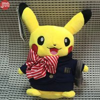 airlines video - New Pikachu Airline Stewardess Airhostess Cabin Attendant Soft Peluches Doll Fashion Cartoon Toys Kids Baby Girl Christmas Gift