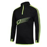 Wholesale 2016 New Arrival Strip Design Professional Running Jackets Men Football Clothing Kids Soccer Training Tracksuits Long Sleeved Shirts