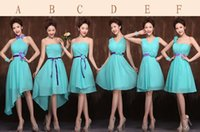 Wholesale Special occasion Grecian style turquoise bridesmaid dresses types Luxury Green Dress Hugh Quality