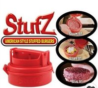 bbq red - by DHL or EMS Red Stufz Stuffed Burger Maker Silicone BBQ Meat Machine Cooking Tools