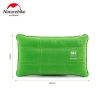 Wholesale Outdoor Travel Folding Air Inflatable Pillow naturehike Portable Flocking comfortable Cushion for home Office Plane Hotel
