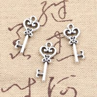 antique key - 150pcs Charms skeleton key mm Antique Making pendant fit Vintage Tibetan Silver DIY bracelet necklace