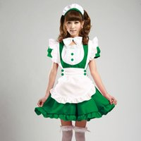 Wholesale Price New Colors Girls Women Lolita Anime Maid Cosplay Costume Princess Halloween Sweet Dress CP22