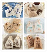 Wholesale Creative Faux Burlap Linen Cotton Gift Bag Jewelry Bag Pouch Fabric Wedding Birthday Candy Bags
