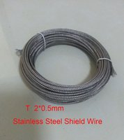 Wholesale T Type mm Fiberglass Coated Stainless Steel Shield Thermocouple wire meters