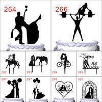 Wholesale Romantic Silhouette Wedding Cake Topper Unique Groom and Bride Cake Decoration Sweet Kissing Couple Cake Toppers