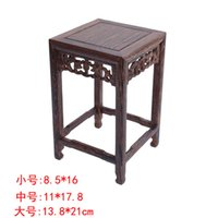 bamboo table base - Special offer wooden square table Buddha flower vases aquarium decoration crafts base wood carved Home Furnishing jewelry