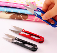 Wholesale U Shape Scissors Clippers Sewing Trimming Scissors Nipper Embroidery Thrum Yarn Fishing Thread Beading Cutter Mini Tool