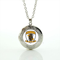 alpha picture - Exquisite men and boys gift jewelry locket necklace Alpha city f c rugby football picture glass cabochon accessory NF032