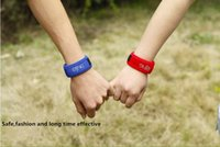 Wholesale 2016 New Pure Nature Mosquito Repellent Bracelets Colours Anti Mosquito Wristband Hand Ring Keeping Mosquitoes and Bugs away