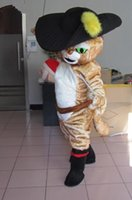 Cheap 2016 hot Mascot lovely puss in boots mascot costume Advertising Booted Cat cartoon & moive TV character Mascotte Suit Carniva