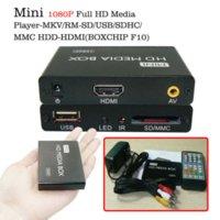Wholesale Multimedia player Mini HDMI Full HD Media Player P TV BOX Support MKV RM SD USB SDHC MMC HDD HDMI