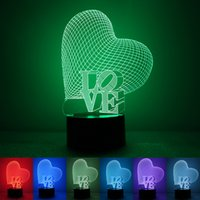 Wholesale 2016 new love confession D Nightlight W environmental protection USB power supply Home Furnishing intelligent LED colorful lights