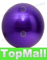 Wholesale LAI Newest Arrivals cm Exercise Ball without Air Pump Body Slimming For Yoga Fitness Pilates Home Gym colors