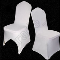 Cheap 200pcs CCA4085 High Quality Universal White Polyester Spandex Wedding Chair Covers For Weddings Banquet Folding Hotel Decoration Chair Cover