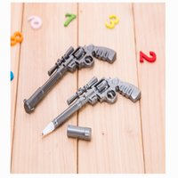 Wholesale New Toy Weapons ballpoint pen Novelty Blue Ink Through FireWire MM Creative Stationery Gun shape Of School Supplies Cute Gift Decorations