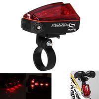 bicycle laser lane - 5 LED Laser Bulbs Bicycle Bike Laser Tail Light Lane for Safety Night Cycling