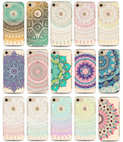 Wholesale For iPhone Plus Case Mandala Datura Floral Cases Clear Soft TPU Cover For iPhone s plus s Cellphone shell free DHL