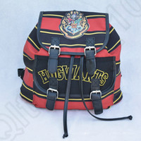 Backpack Style Unisex AS PIC Harry Potter Backpack Hogwarts School Bag Crest Striped Wizard Rucksack Canvas Cartoon Shoulder Bags Christmas Halloween Gifts OOA766