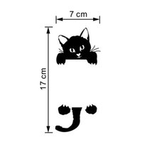Wholesale DIY Funny Cute Black Cat Switch Decal Wallpaper Wall Stickers Home Decoration Bedroom Kids Room Light Parlor Decor Sticker