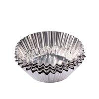 aluminum trays disposable - 200pcs x Aluminum foil egg tart trays baking tools egg tart cup