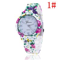 beauty watch - 2016 Christmas gift Fashion Floral Flower GENEVA Watch GARDEN BEAUTY BRACELET WATCH Women Wristwatch Luxury Quartz Watch