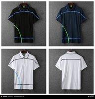 Wholesale 2016 shor sleeve cotton orginal quality have logo men classic brad designer men casual tennis shirts