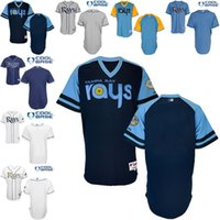 baby embroidery blanks - Tampa Bay Rays blank Jersey White Dark Baby Blue Cool Stitched Baseball Jerseys Embroidery Logo size S XL