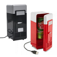 beverage fridge - NEW Design Popular Mini USB Fridge Cooler Beverage Drink Cans Cooler Warmer Refrigerator for Laptop PC