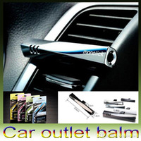 Wholesale 4 Colors Hot monolick Magic Perfume Car Air Freshener Fragrance Parfume Luxury Vehicle mounted Balm Wand Outlet Cream DHL