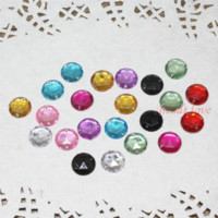 Wholesale 300pcs Mixed Round Acrylic Beads Hole Flatback Cabochon Buttons Scrapbooking mm w02461 M65108 scrapbook frame scrapbook bag