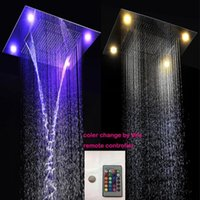 Wholesale Best Bathroom Rain Waterfall LED Shower Heads Ceiling cm Stainless Steel Rainfall Waterfall LED Shower Heads