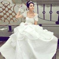 Wholesale 2016 sweetheart custom ivory white wedding dress beach wedding dress lace a summer wedding dress embroidered decoration