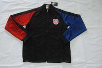 Wholesale Quality assurance national usa america bule white black men Long sleeve thailand soccer jacket Jerseys uniforms Tracksuit