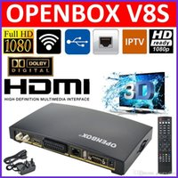 Cheap Newest Openbox V8S Digital Satellite Receiver SupporYoutube Youporn CCCAMD NEWCAMD S-V8 Support WEBTV Biss Key 2xUSB Slot USB Wifi 3G