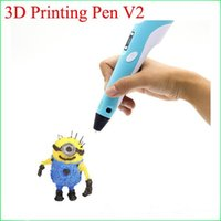 Wholesale 3D Printer Pen for Children Student Present Kids Drawing Tools With Free three dimensional Filament Version in stock hot selling in USA