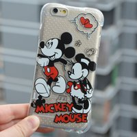 air mouse iphone - 3D Air bag Anti fall Slip Soft TPU For Apple iPhone s plus s plus Cartoon Mickey Mouse Silicone Phone Case
