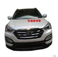 Wholesale Automobile p Chromium Styling The lid is decorated bright car accessories for HYUNDAI Santa Fe IX45 accessories ladies