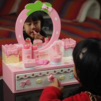 Wholesale Baby Toys Luxury Mother Garden Simulation Dressing Table Eductional Wooden Toys Classic Toys Baby Play House Girls Birthday Gift