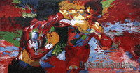 apollo painting - Abstract Artists Paintings repro by Leroy Neiman quot Rocky vs Apollo quot Sports Movie Poster Hand Painted OIL PAINTING on Canvas