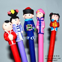 art clay metal - 5 of folk handicrafts Soft TaoRen accidentally ballpoint pen Characteristics of clay figurine clay dolls small gifts