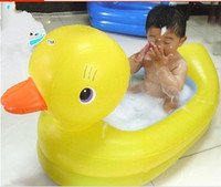Wholesale 2016 new style cartoon Ducks tubs baby bathtub baby pool non slip bottom thick save water