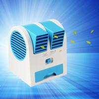 venda por atacado mini fan-Mini ventilador da refrigeração do Fragrance do USB Portátil Bladeless Desktop refrigerando Condicionador de ar Condicionamento Aparelhos ON / OFF EGS_709