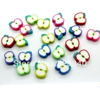 apple scrapbooking - Home Decoration Cabochons Scrapbooking Mixed Apple Flat Back Cabochon Polymer Clay Beads