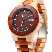 Wholesale Bewell ZS W023B Hot Selling Concise Design Date Calendar Male Quartz Watch Wood Band Date Display