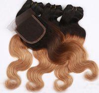 Cheap Hot selling human hair weave,Brazilian Malaysian Peruvian human hair,4x4'' lace closure with 3hair bundles,free middle side part closure